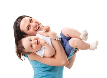 picture of happy mother with baby Stock Photo