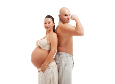 Mature pregnant woman with her husband photo
