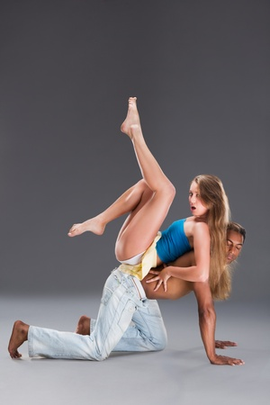 Young couple dances Caribbean Salsa photo