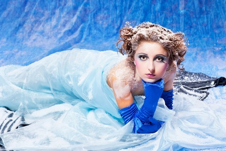 Beautiful snow queen photo