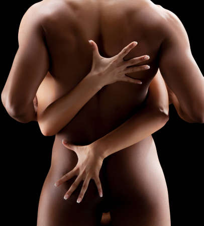romance sex: Art photo of nude sexy couple in the tender passion Stock Photo