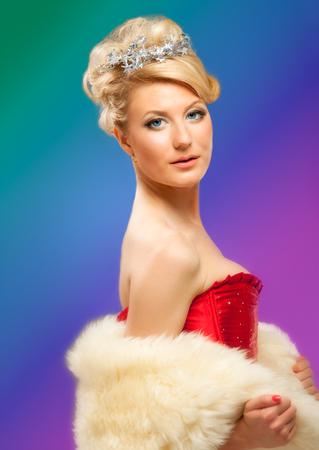 beautiful blonde sexy girl Stock Photo