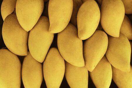 Fresh thai mangoes at the market place.