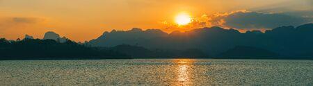 Amazing wild nature of Asia. Cheow Lan lake, Khao Sok National Park, Thailand.