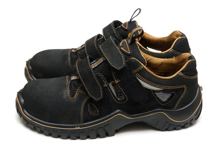 Work boots is on the white background Stock Photo - 21803795