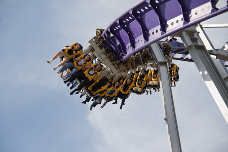 roller coaster ride in the Moscow photo