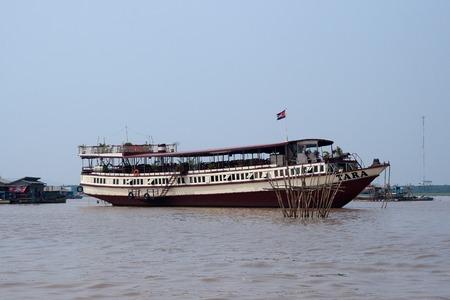 tara: Tara is biggest boat on  Tonle Sap lake, Cambodia