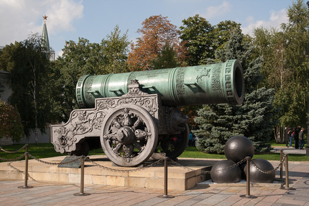 Tsar Cannon at the Kremlin in Moscow, Russia