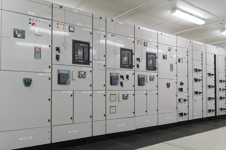 frequency: Electrical energy distribution substation in a  plant