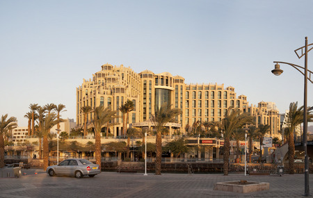 queen of sheba: Eilat, Israel - December 12, 2011: Hotel Hilton Eilat Queen of Sheba, evening Editorial