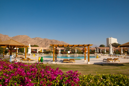 persone relax: People relax in the hotel, Taba, Egypt