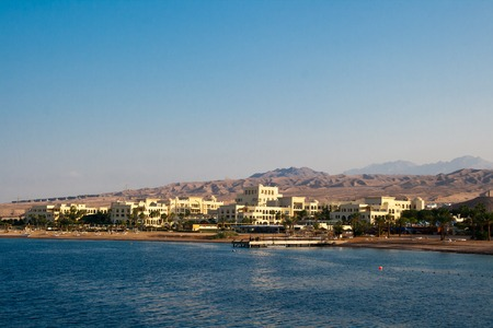 red sea: Aqaba, Jordan, early morning on the Red Sea