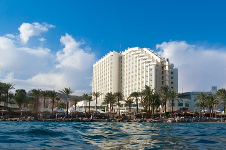 red sea: Hotel and beach are on Red sea. Egypt, Taba,