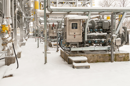 Propane compressor operates in winter conditions in the open air