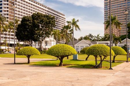Pattaya, Thailand - December 04, 2018: Summer landscape. Hotel Ambassador City Jomtien