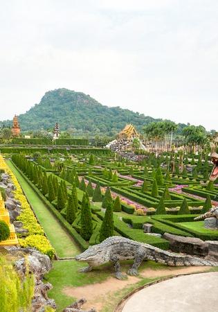 Pattaya, Thailand - December 05, 2018: Nong Nooch tropical garden