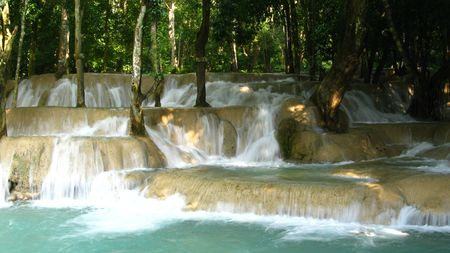 pacification: small waterfall, Laos