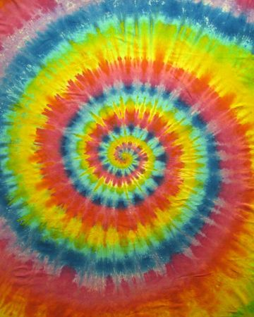 fabric roll: A colorful tie dye pattern (handmade)