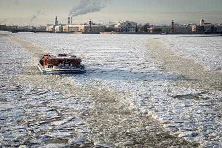 neva: Icebreaker on Neva river,