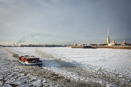 neva: Icebreaker on Neva river,