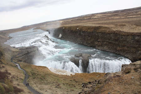 Iceland waterfall landscape