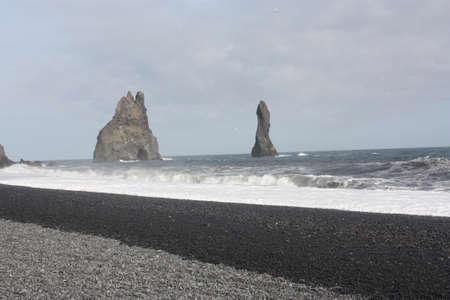 Iceland black sand beach Stock fotó