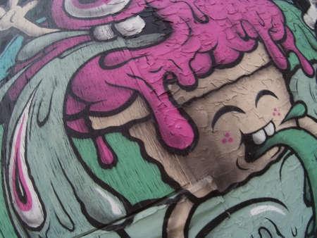 뉴욕 거리 예술 낙서 벽화 스톡 콘텐츠