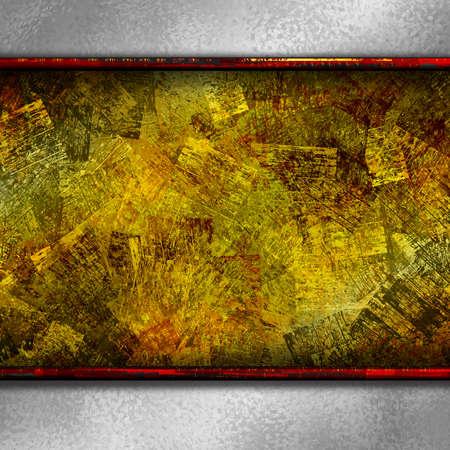 grundge: hard gold paint grundge texture background Stock Photo