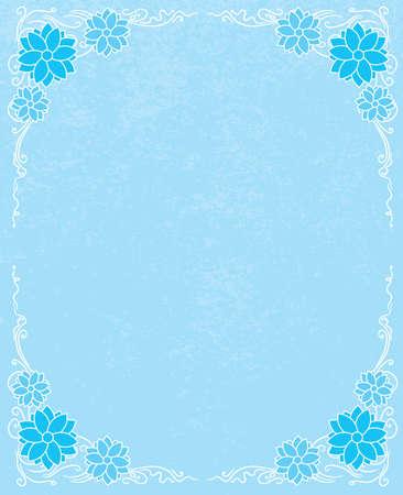 grundge: Winter floral ornament with grundge background