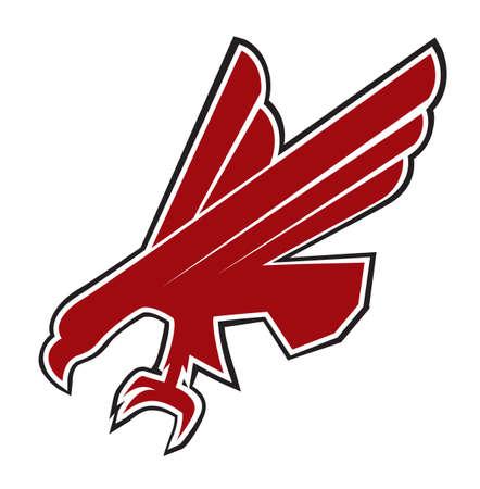 patriotic eagle: Eagle symbol isolated on white - illustration