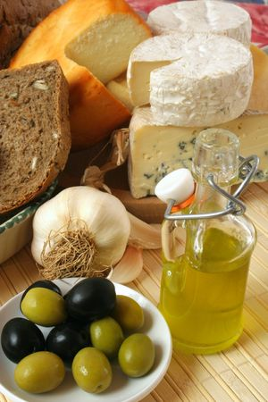 Cheese and olives breakfast Stock Photo - 2652346
