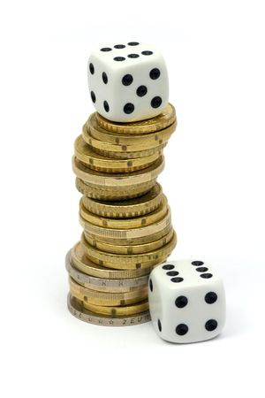 Dices and coins photo