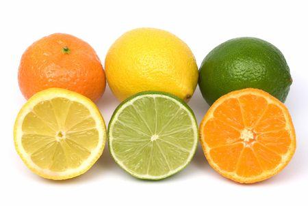 Lemon, lime and tangerine photo