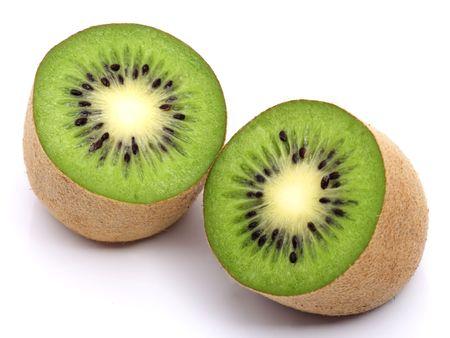 Fresh kiwi fruit isolated on white background Stock Photo - 3883851