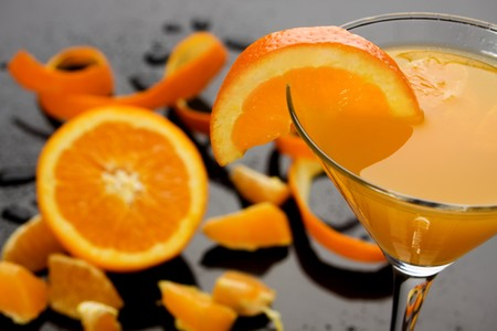 Orange juice served in a cocktail glass Stock Photo - 6924422