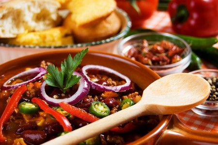 Mexican chili con carne ready to eat photo