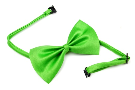 bowtie: Classic green bowtie isolated on white background