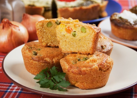 pone: Corn pone filled with green pea and carrot