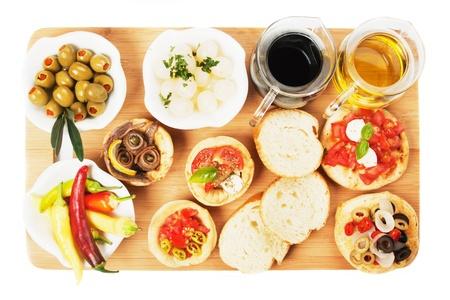 Tapas Sammlung, diverse kalte Mahlzeit in den Mittelmeerländern eingesetzt