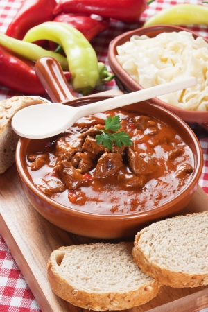 beef stew: Beef stew or goulash, traditional hungarian meal