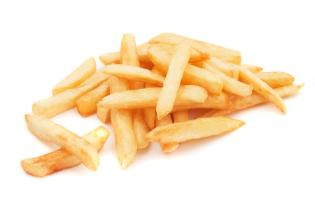 french fried potato: French fries, fried potato isloated on white background