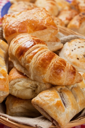 Croissants, sesame buns and other puff pastry