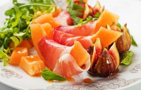 Prosciutto di Parma salad with melon and figs
