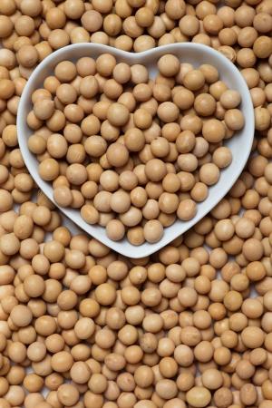cocaine: Raw soy bean ine heart shaped tray