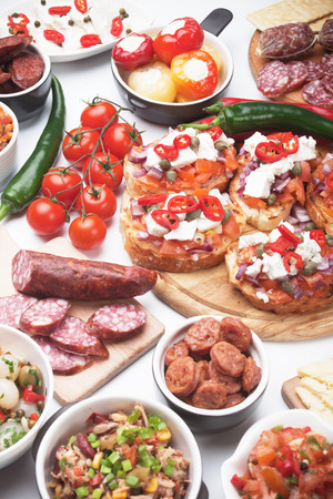 party pastries: Tapas or antipasto food, mediterranean appetizers great for parties
