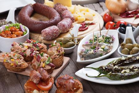 antipasto: Tapas or antipasto food, mediterranean appetizers great for parties