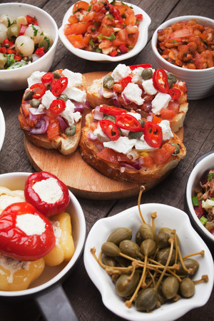 catering food: Tapas or antipasto food, mediterranean cold buffet great for parties