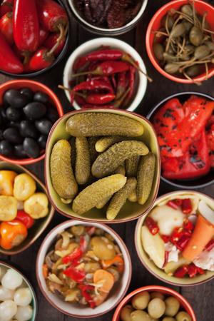 preserved: Pickled cucumber or cornishons, acid or vinegar preserved vegetable