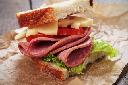 bologna baloney: Baloney or Bologna sausage and cheese sandwich