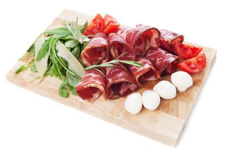 Italian capicola or capocollo, cured and aged pork meat